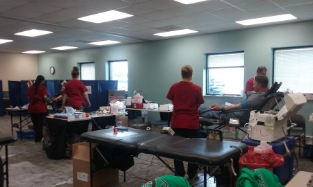 blood drive set up
